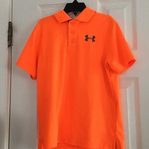 BOYS UNDER ARMOUR HEAT GEAR POLO